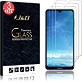 J&D Compatible for 3-Pack Huawei Y7 2019/Y7 Pro 2019/Y7 Prime 2019 Glass Screen Protector, [Tempered Glass] [Not Full Coverage] Ballistic Glass Screen Protector for Huawei Y7 2019 Screen Protector