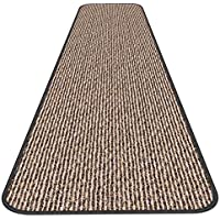 Skid-resistant Carpet Runner - Black Ripple - 6 Ft. X 27 In. - Many Other Sizes to Choose From
