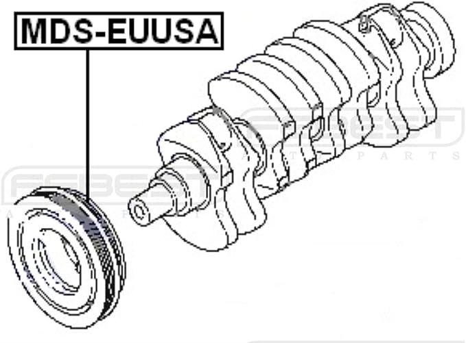 EA3A For 2001 Mitsubishi Galant OEM MD376056 USA Engine Crankshaft Pulley
