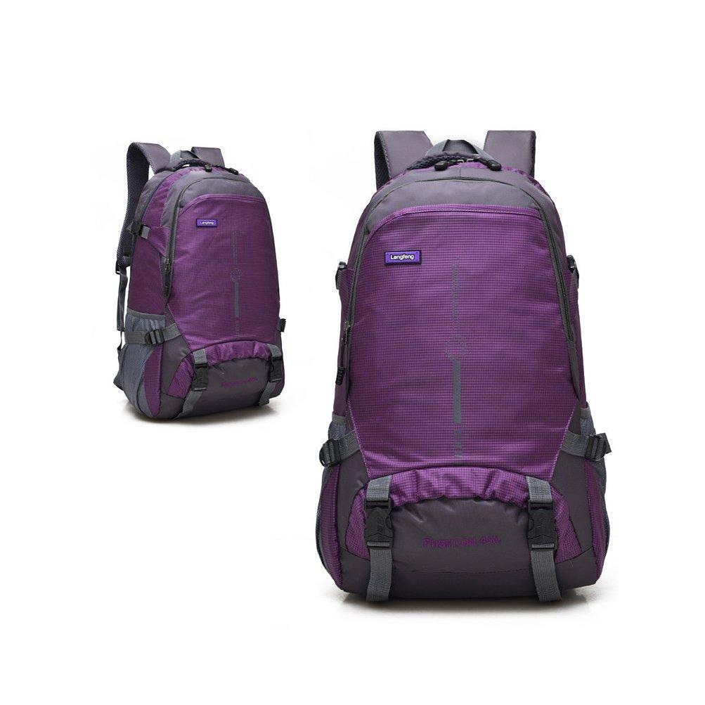 Vinteky® 45L Multifuncional, Gran capacidad Mochila Impermeable al aire libre(Púrpura): Amazon.es: Deportes y aire libre