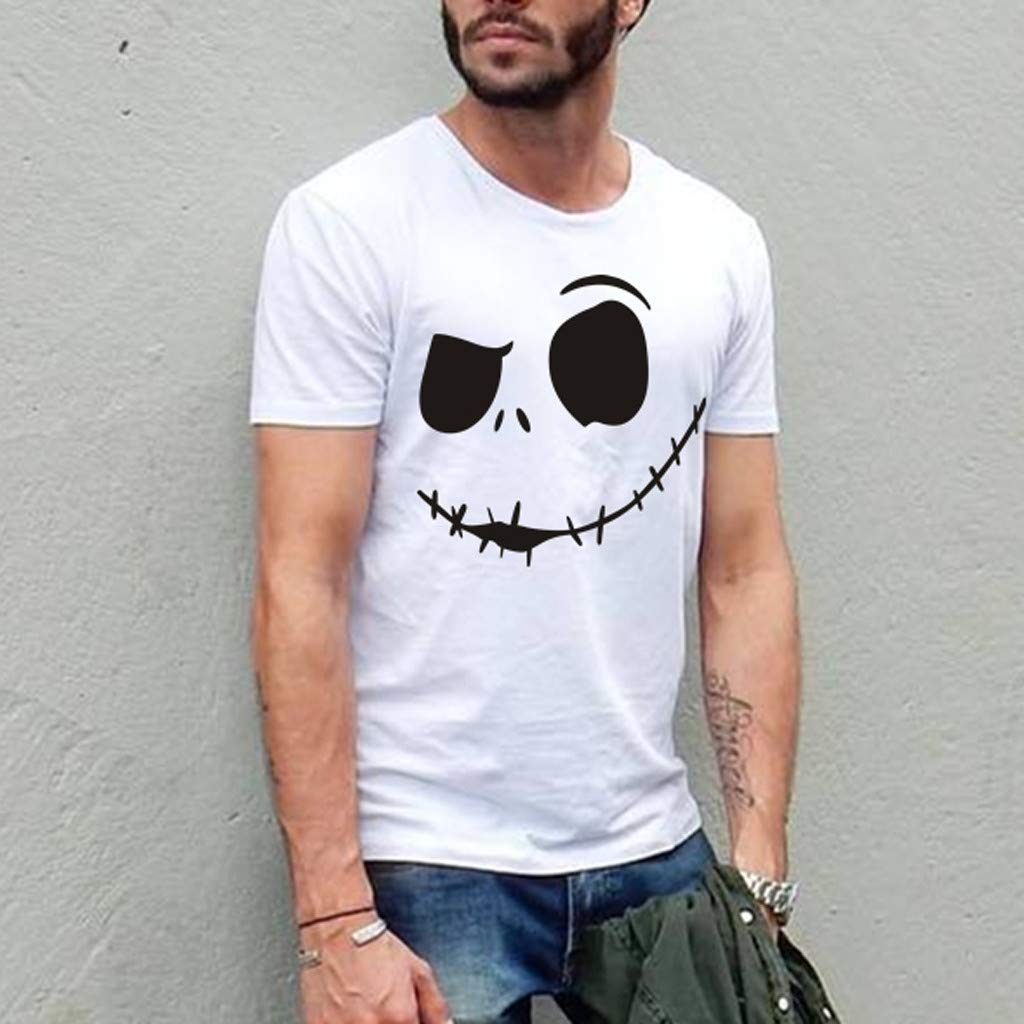 2019 New Trend Novelty Evil Smiley Printed T Shirts Short Sleeve Tops