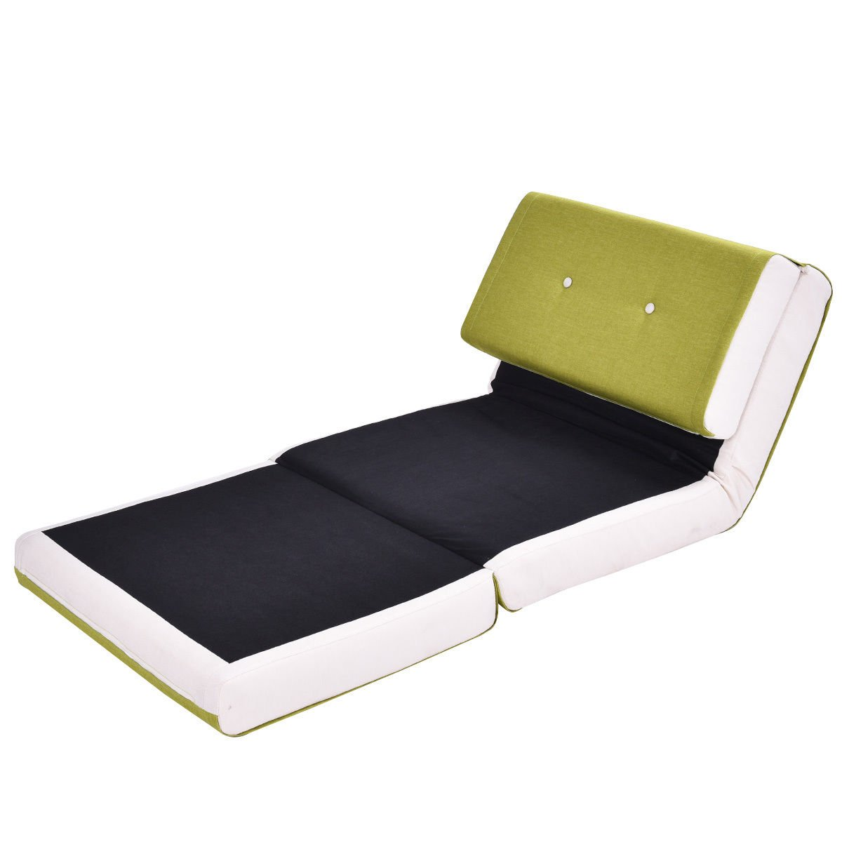 Fold Down Chair Flip Out Lounger Convertible Sleeper Bed Couch Game Dorm Green by Tumsun (Image #5)