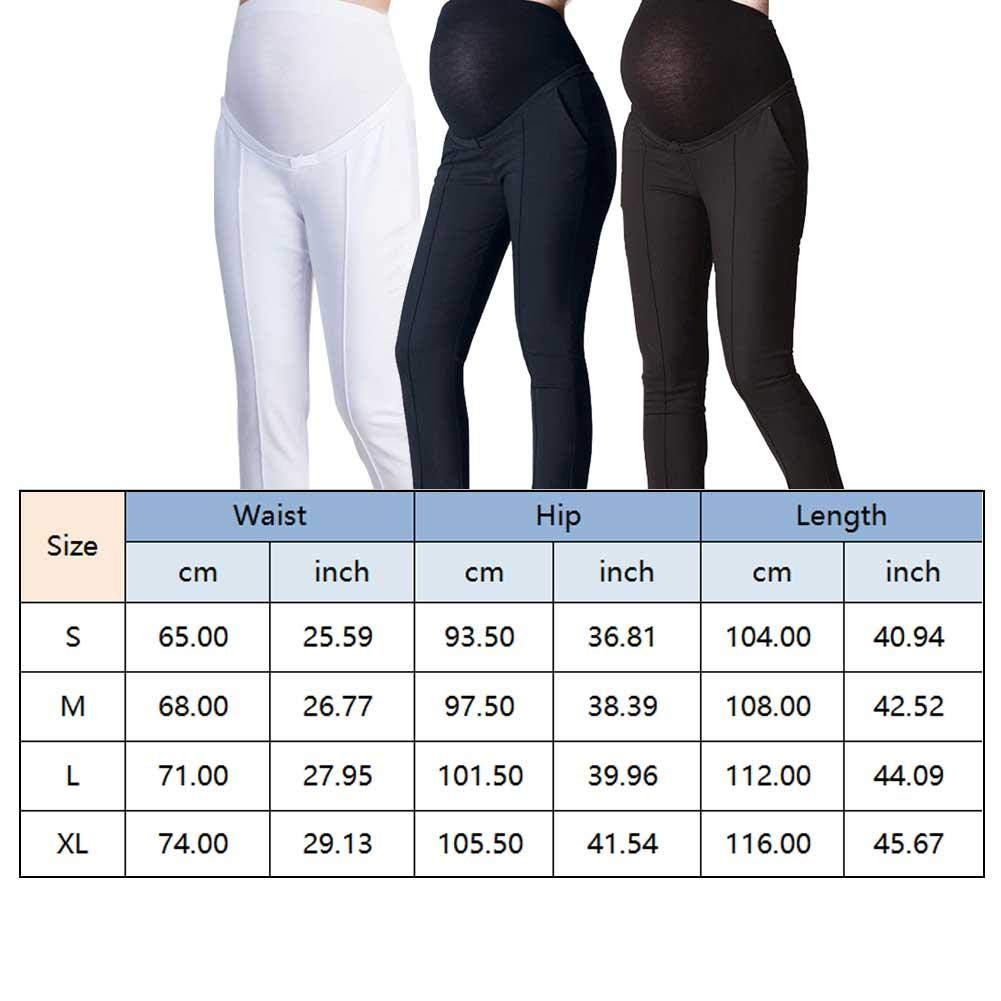 Solid Color Over-Bump Trousers Elastic Adjustable Trousers for Maternity Work Office Pants iShine Womens Maternity Pants