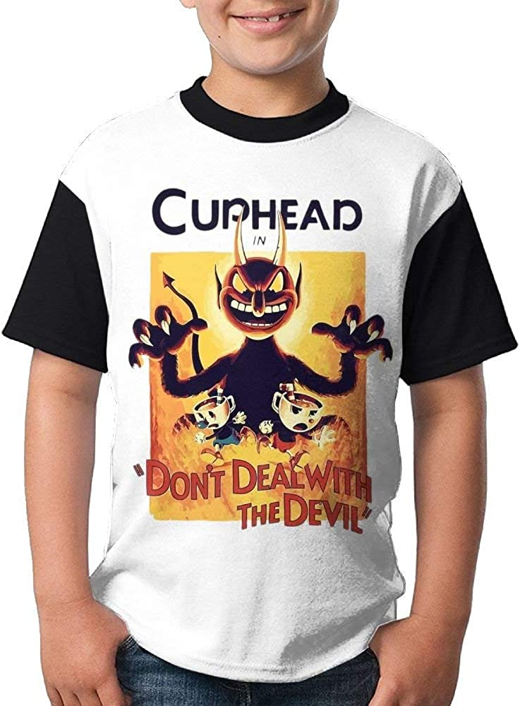 MYHL Cup-Head Fashion 3D Youth T T-Shirt.We Have More Beautiful Products in Our Store!