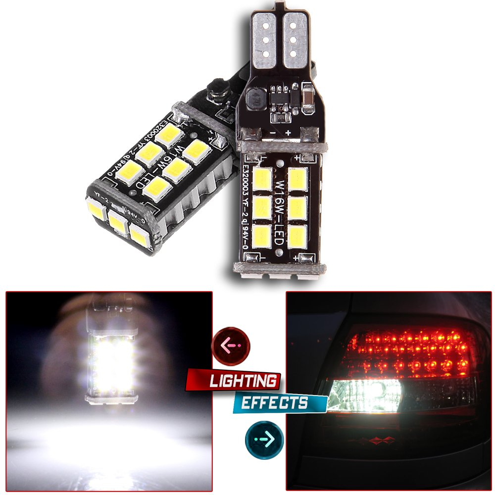 OCPTY T10 194 168 15SMD Error Free LED Light Bulb Replacement fit for License Plate Lights, 2Pqack 990571-5209-1551465581