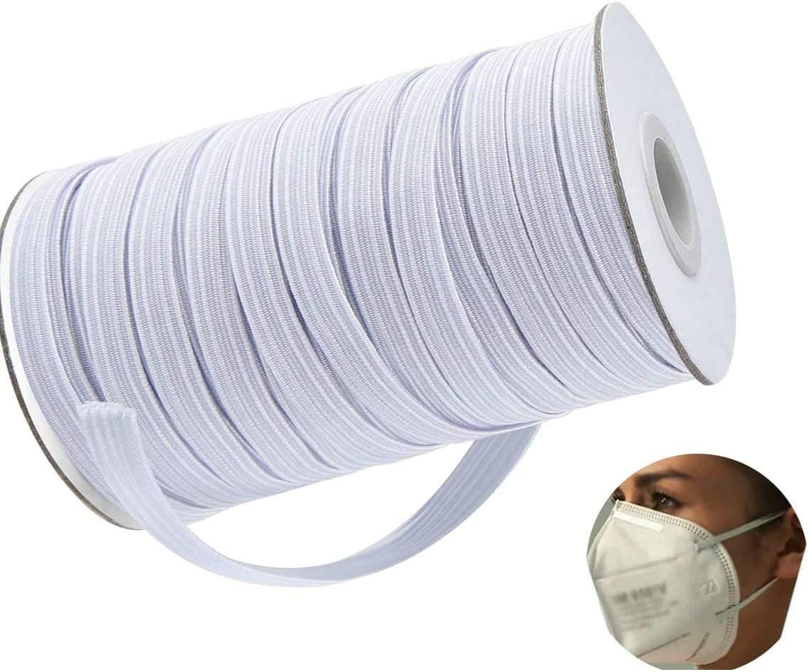 Strap Braided Elastic Rope 100 Yards Elastic Band for Sewing 1//2 inch Black Flex Fabrics Bungee for Handmade Making High Elasticity Sewing Craft DIY Mask and Bedspread Cuff Cord