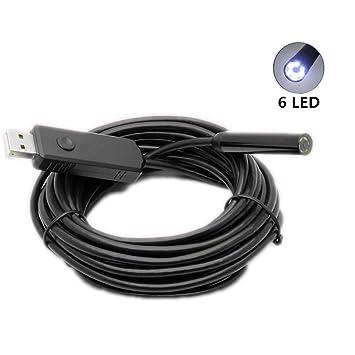 x-hong dígitos USB Cable para PC boroscopio inspección – cámara endoscópica con 6 ajustable