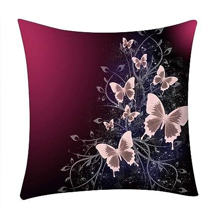 VJGOAL Moda Casual Flores impresión Funda de Almohada sofá ...