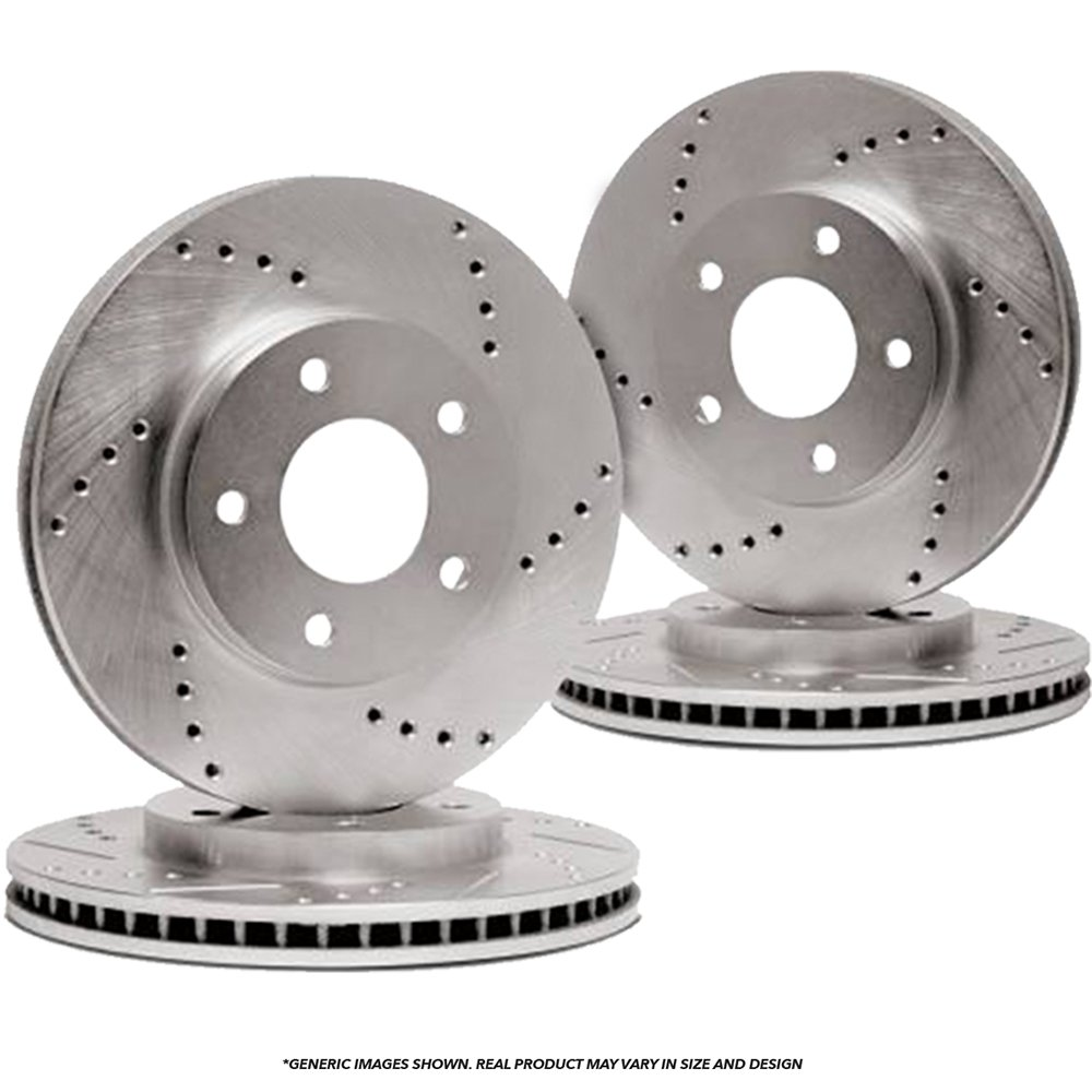 Front Kit 2 OEM Repl High-End Fits: 8lug Disc Brake Rotors 4 Ceramic Pads