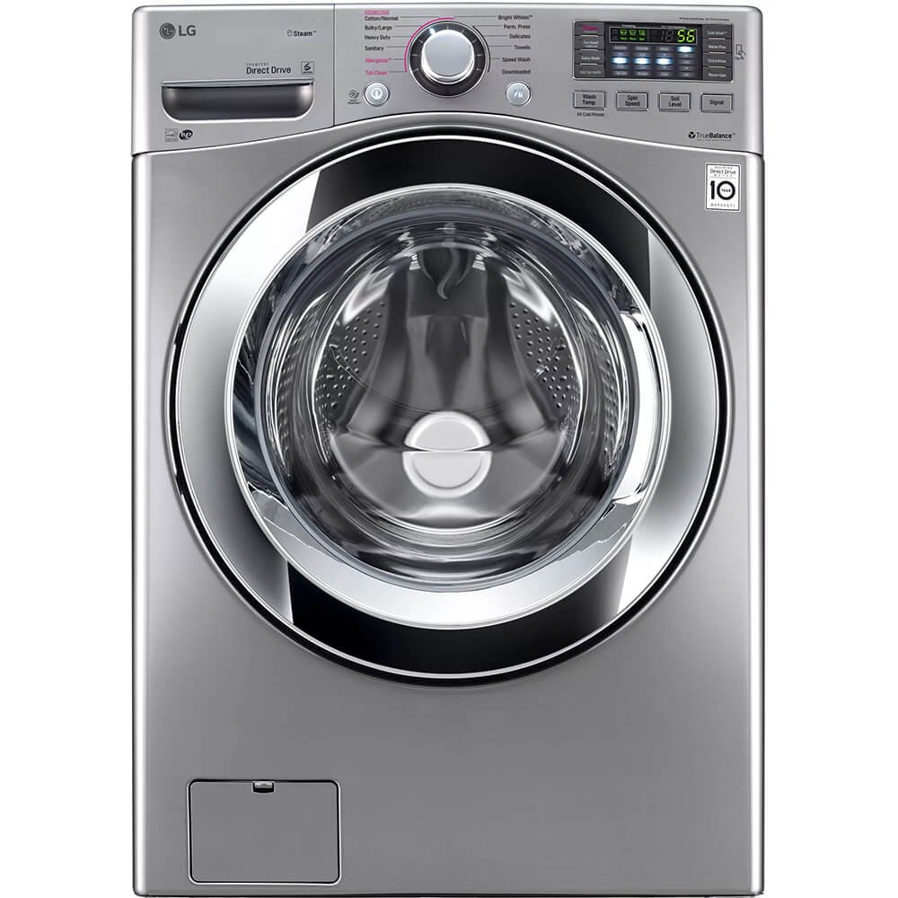 LG WM3670HVA 4.5 Cu. Ft. Graphite Steel With Steam Cycle Front Load Washer - Energy Star