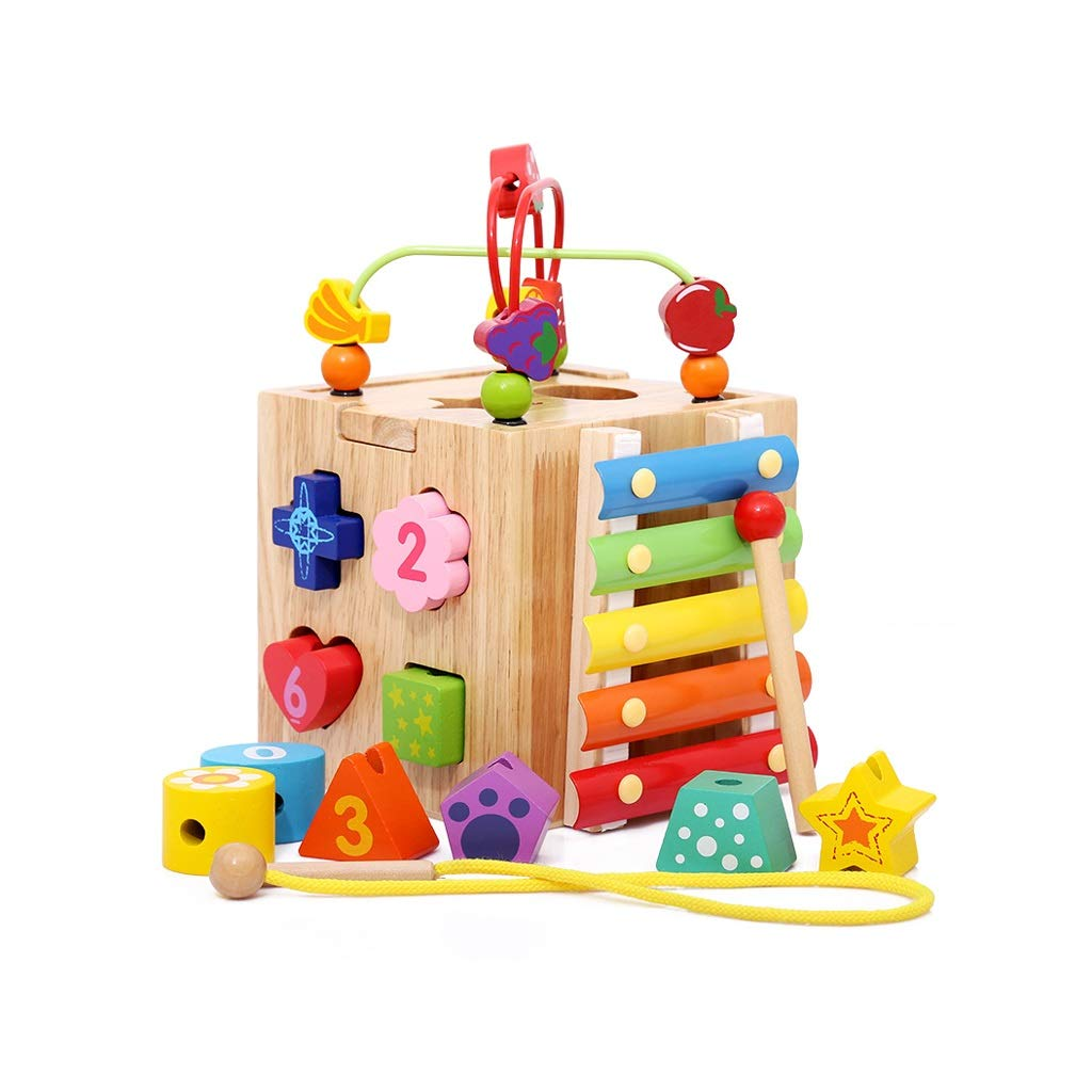 LIUFS-TOY Building Blocks Toys 2-3 Years Old Early Education Puzzle Enlightenment Boys and Girls Can Bite Children's Toys ( Color : Multi-Colored )