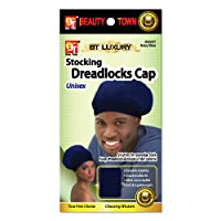 Stocking Dreadlocks Cap - Unisex Stretchable, Soft & Lightweight Comfortable Cap, Hair Care Night Sleeping Head Cover (Navy Blue - Pack of 4)