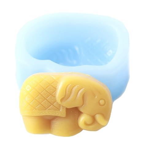 World of Moulds - Molde de elefante, silicona, 9,5 x 7 x