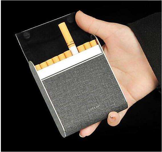 KPPTO Porta cigarrillos, estuche de cigarrillos 20 palos, estuche portátil de tela para hombres y mujeres Flip Caja de cigarrillos ultrafina, Paquete de cigarrillos a la moda Porta cigarrillos beautif: Amazon.es: Hogar