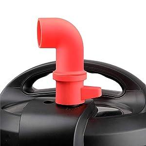 Steam Diverter Insta Pot Accessories, Original Steam Release Accessory Part for Instant Pot 3 qt 6 qt 8 qt or Pressure Cooker Parts, Cupboards/Cabinets Savior, Red