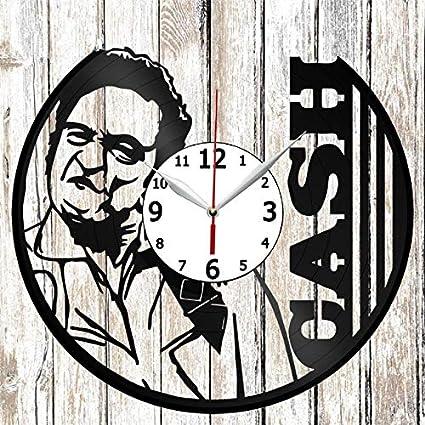 Johnny Cash Vinel Record Wall Clock Home Art Decor Original Gift Unique Design Handmade Vinyl Clock