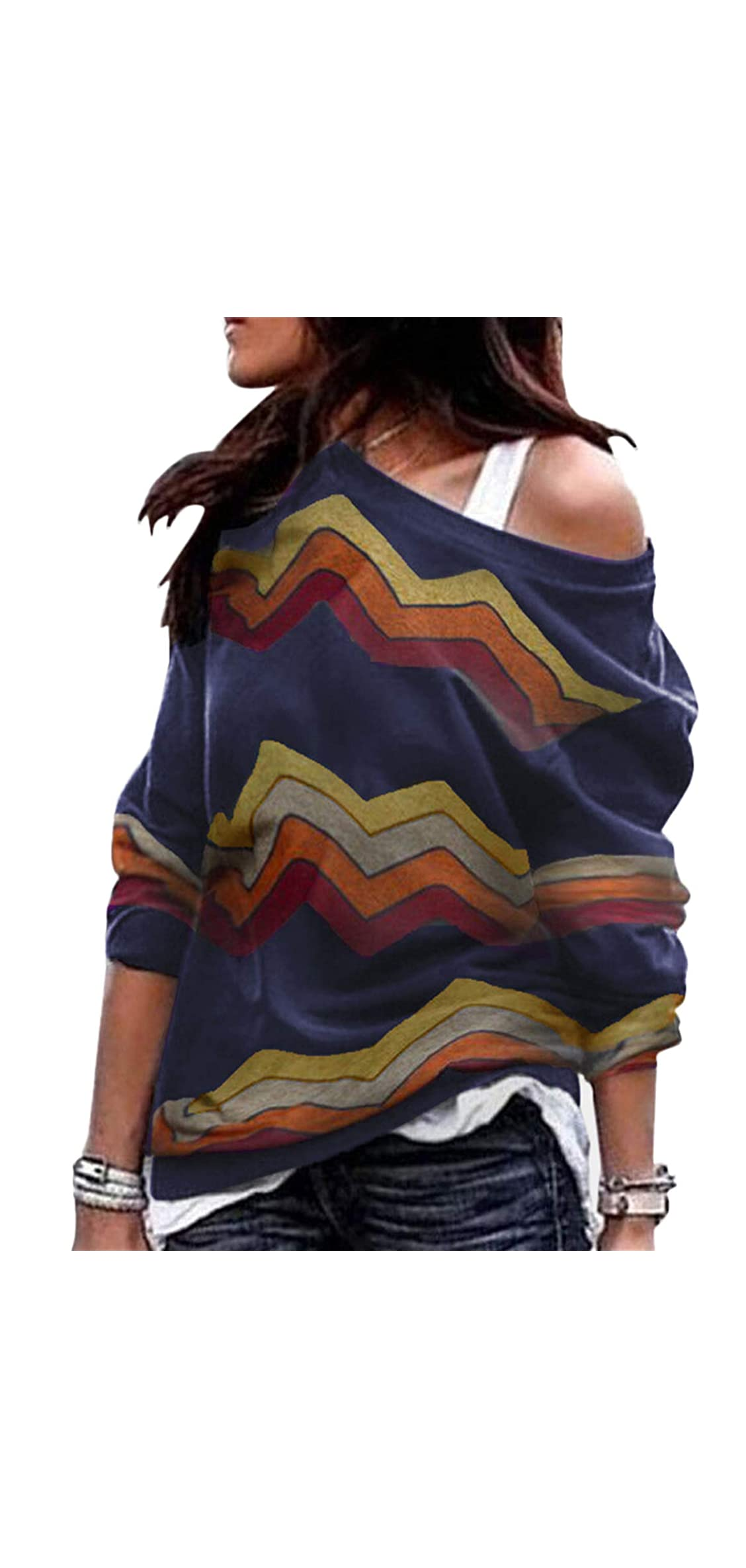 Cold Shoulder Long Sleeves Tops For Women Casual Shirts