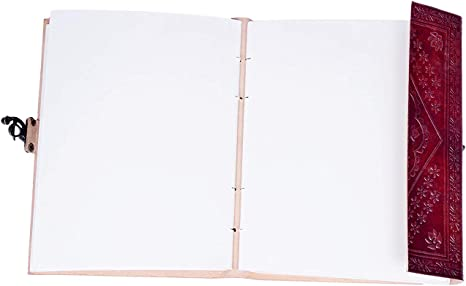 100 pagine Quaderno fatto a mano Swastik Leather Journal in pelle
