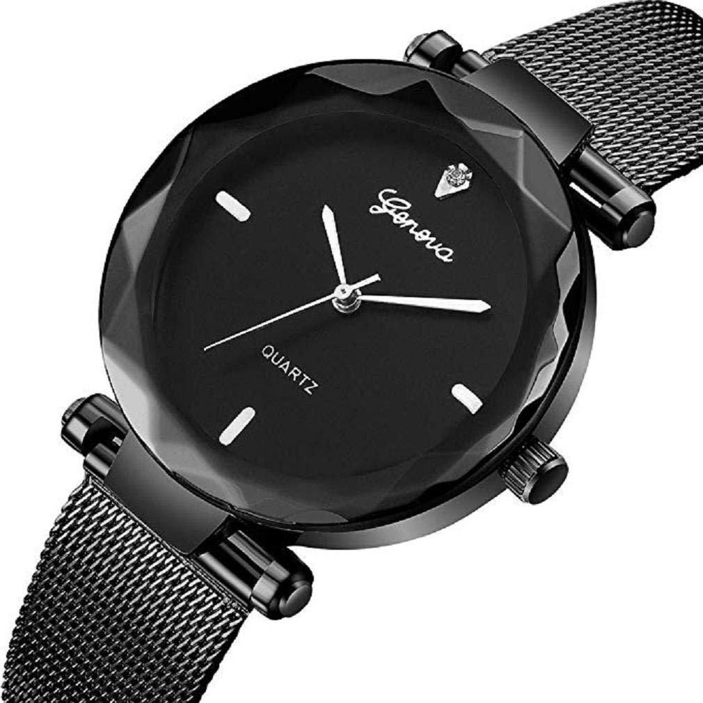 ¡Promoción Reloj de Pulsera analógico clásico de Lujo para Mujer Reloj de Pulsera de Malla de Acero Inoxidable para Mujer. (C): Amazon.es: Relojes