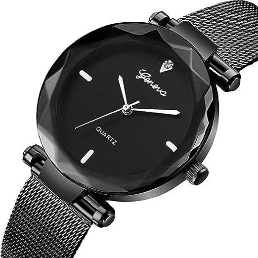 ¡Promoción Reloj de Pulsera analógico clásico de Lujo para Mujer Reloj de Pulsera de Malla