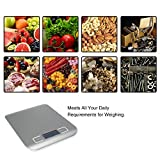 Zehui LCD Display Digital Multifunction Stainless Kitchen Scale and Food Scale with Max Capacity 11LB