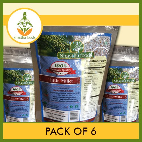 Indian Little Millet (Pack of 6) Each Pkt 500 Gms by Shastha Foods