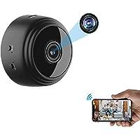 Mini câmera espiã WiFi OVEHEL HD 1080P sem fio, câmera de vídeo escondida, pequena câmera de babá com visão noturna e…