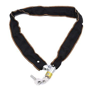 Yinew - Cadena de bloqueo de cadena para bicicleta con llave ...