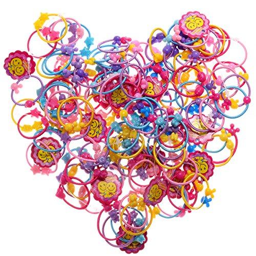 Elastic Hair Bands Ties, Girl Hair Ties Kids Colorful Elastics Ponytail Holder, Ropes Hair Elastics Girls Hair Holder