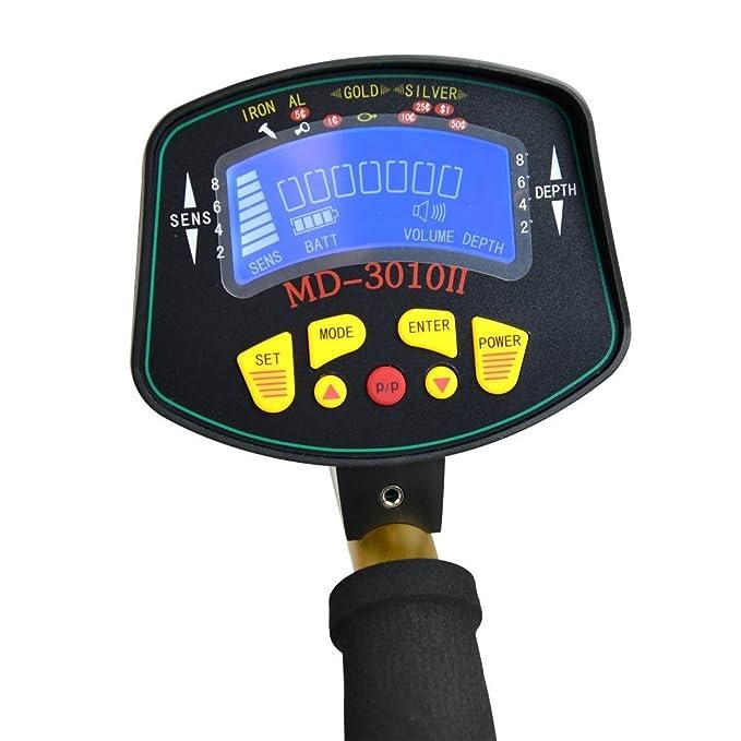 tianxun Hobby mejorado detectores de metales con pantalla LCD Buscador de tesoros oro MD-3010II: Amazon.es: Jardín