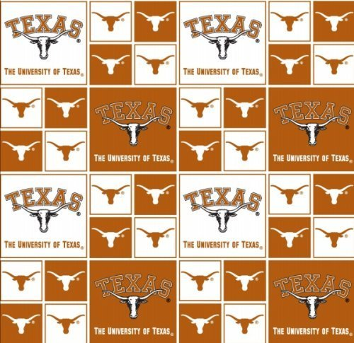 (Cotton College University of Texas Longhorns Print Cotton Fabric By the Yard by Field's Fabrics)