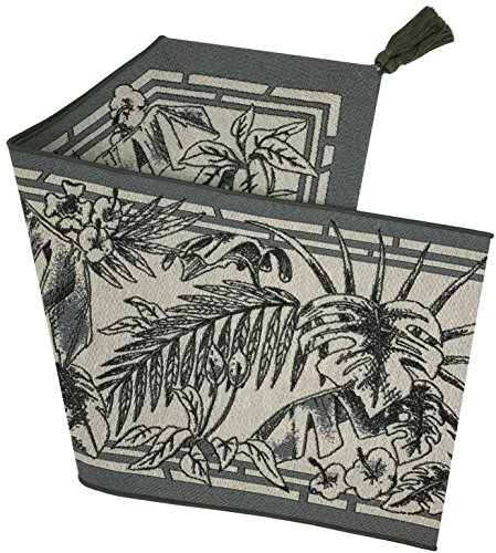 Manual Tropical Breeze Fern Grey Toile Tapestry Tablerunner UTBS72 72x13