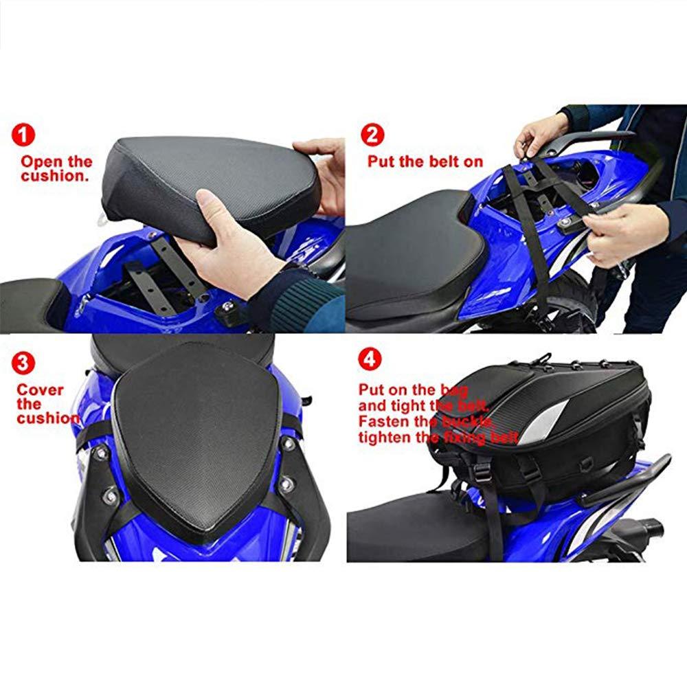 Dual Use Motorcycle Backpack Waterproof Luggage Bags Motorbike Helmet Bag Storage Bags Motorcycle Seat Bag Tail Bag