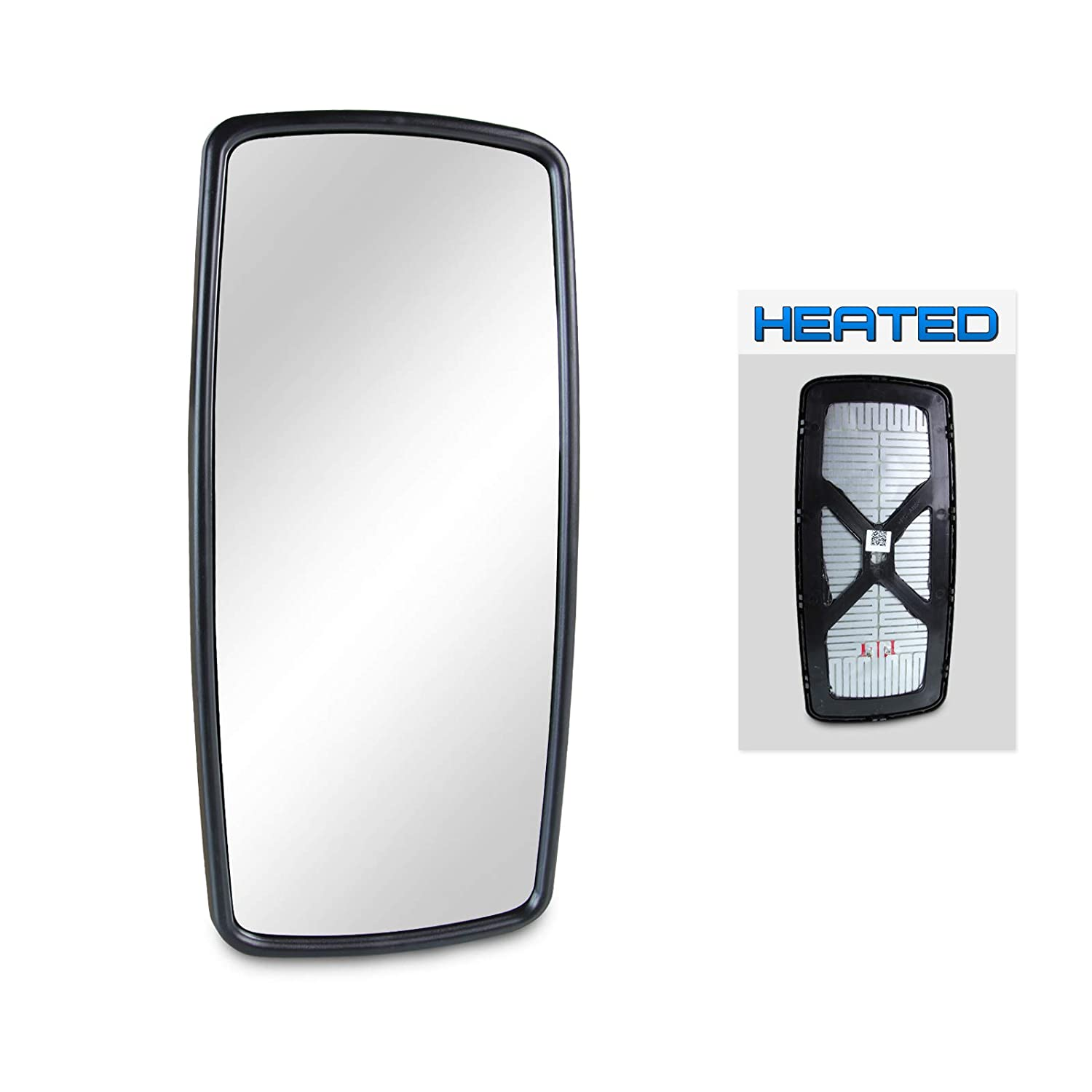 Optix 1pc P.RA 2003-2006 Freightliner Columbia Side View Mirror Replacement Heated 2003-2017 Freightliner M2 Heated Main Mirror Glass