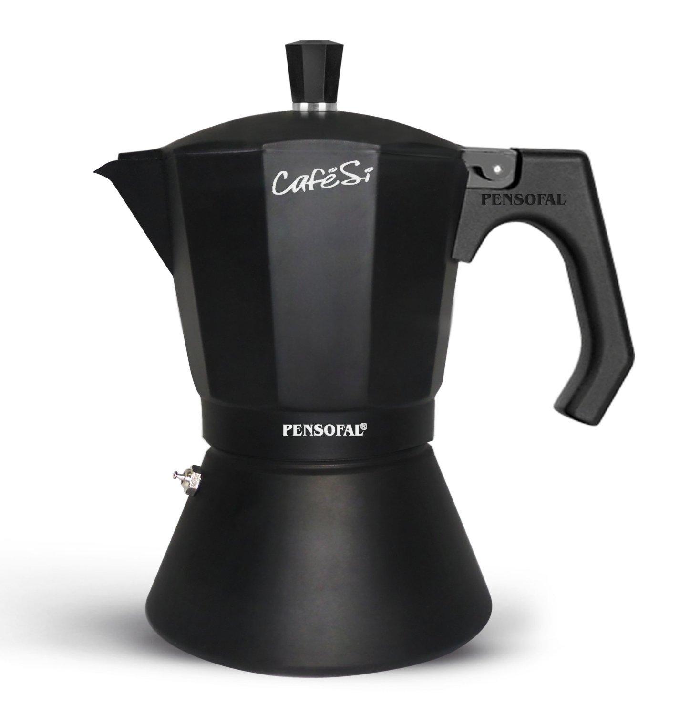 Pensofal 07PEN8406 6-Cup Cafesi Stovetop Espresso Coffee Maker, Black