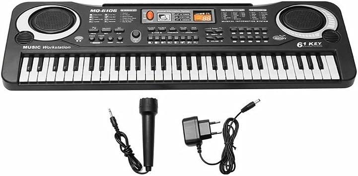Teclado órgano musical infantil electrónico de 61 teclas con ...