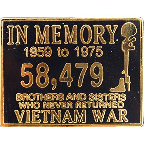 EE, Inc. Vietnam In Memory Pin Military Collectibles for Men Women, Small
