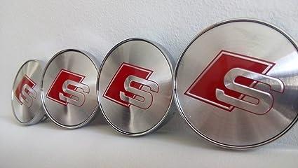 Set de 4 Audi S-line para llantas de aleación Centro Tapacubos cara 60 mm