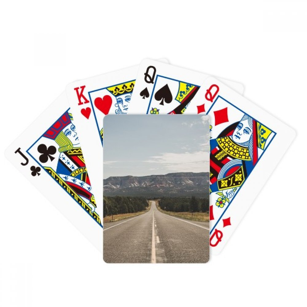 Highway Travel Sky Outdoor Forest Poker Playing Cards Tabletop Game Gift by beatChong