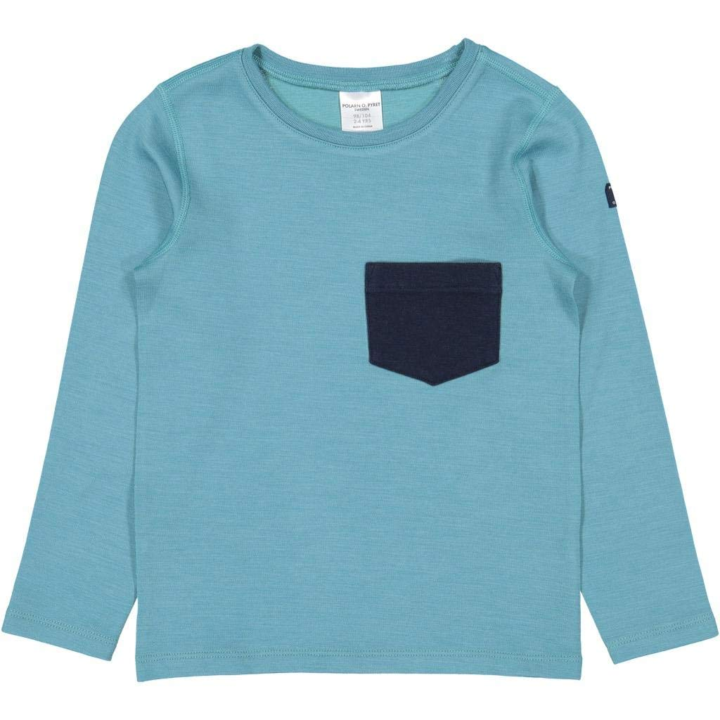 Polarn O. Pyret Wool Pocket and Patch TOP (2-6YRS) - 4-6 Years/Bristol Blue by Polarn O. Pyret