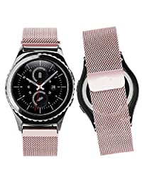 Tonsee Milanese Magnetic Loop Stainless Steel Band For Samsung Gear S2 Classic SM-R732 - Rose Gold