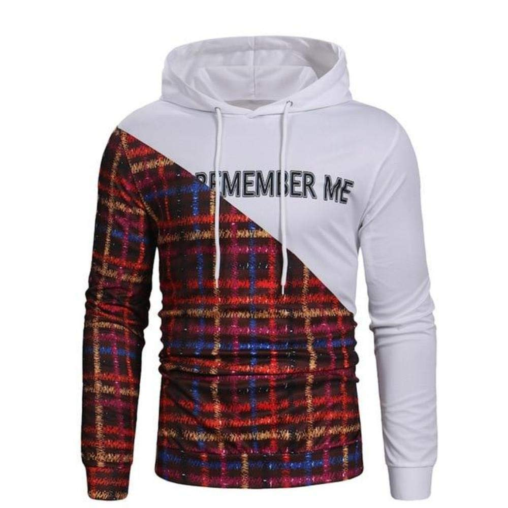 Styles and wear Men Printed Pullover Long Sleeve Hooded Sweatshirt