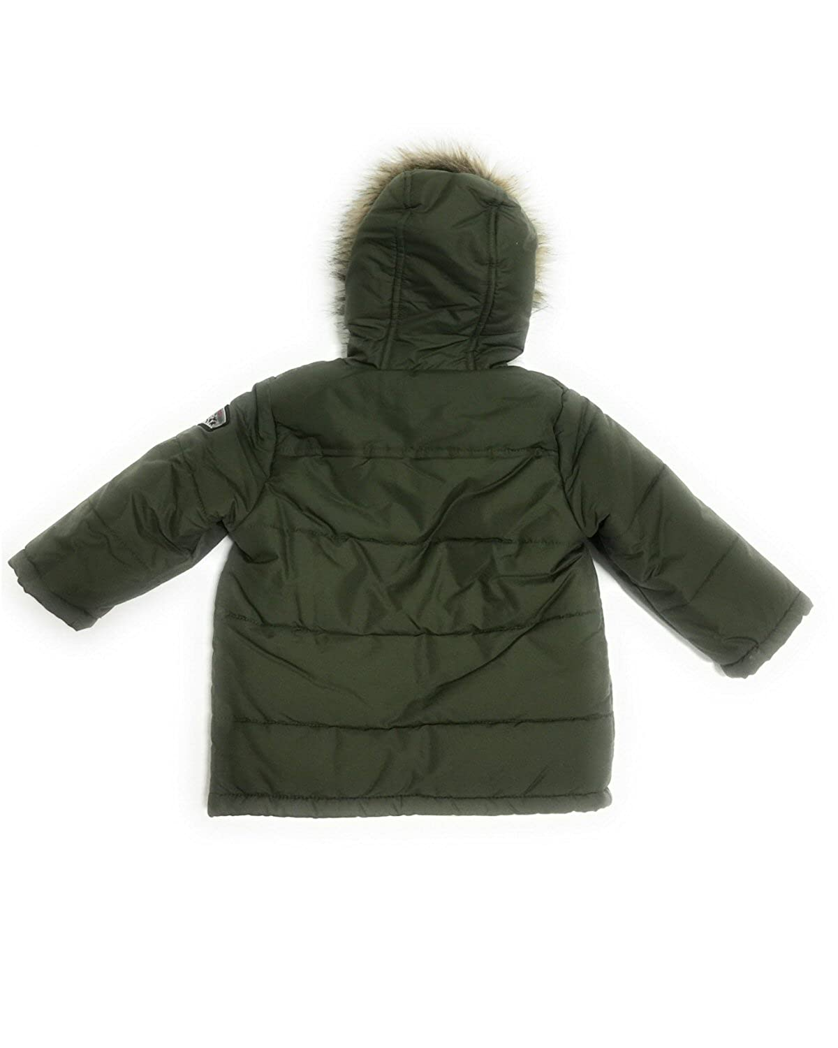 03feb3ccca70a Amazon.com  S. Rothschild Hooded Puffer Coat With Faux-Fur Trim ...