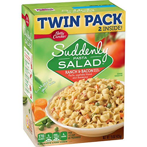 Dry Twin Packs - Betty Crocker Dry Meals Suddenly Salad Ranch and Bacon Twin Pack, 15 Ounce