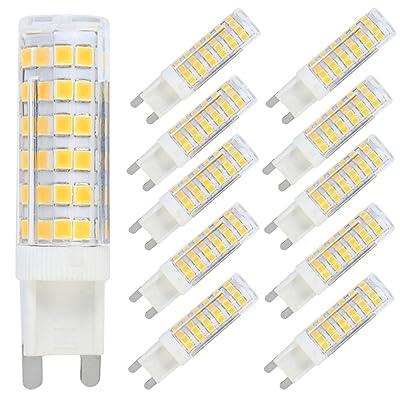 10 Pack G9 Ampoule Lampe LED 7W Spot LED Bulb 76 SMD 2835LEDs Blanc Chaud 3000K Équivalent à Ampoule Incandescente de 70W AC220V-240V