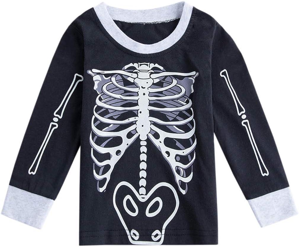 Boo Pumpkin Halloween Kids Cotton T-Shirt Basic Soft Short Sleeve Tee Tops for Baby Boys Girls