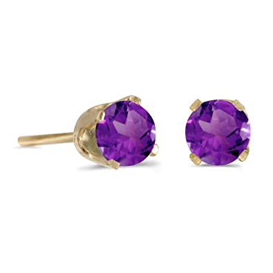 small jewelry earrings yellow kabella amazing gold shop size savings womens round on stud amethyst