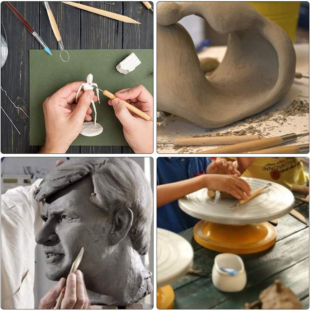 Gobesty Herramientas de escultura de arcilla bola puntero puntero de silicona juego de 24 herramientas de modelado de cer/ámica con bolsa de almacenamiento