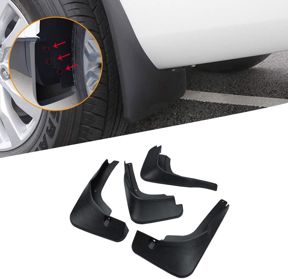 Car Mudguards For O pel Mokka X,For Vauxhall//O pel,For Encore 2013-2018 New Black Front And Rear Wide Mudflaps Complete With Mounting Screws Easy Fit Splash Guards//Fender Flares 4 Pieces Set
