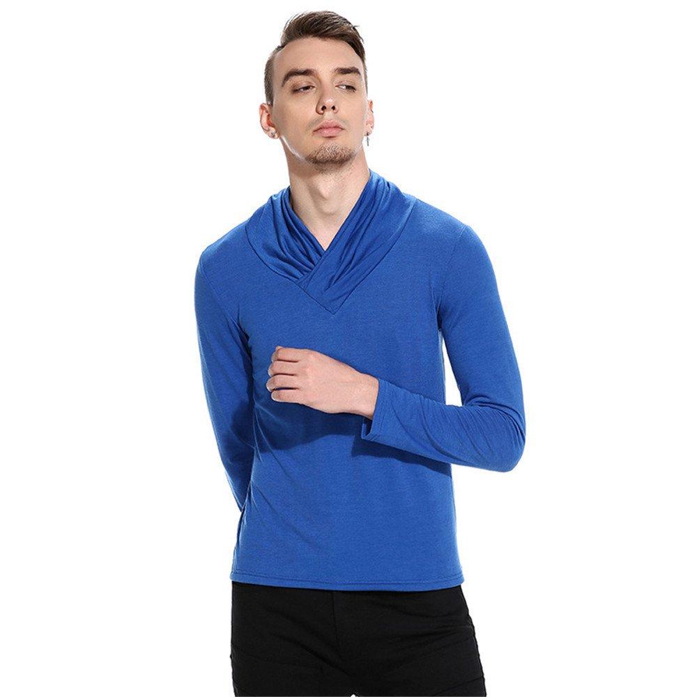Männer - pullover pullover haufen warm feste langärmelige rolli,Blau,XL